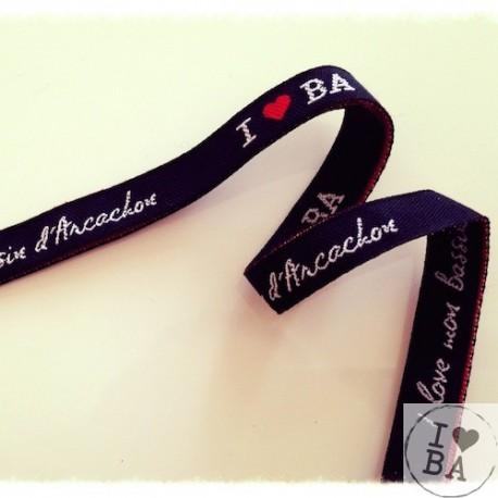 Bracelet I love BA - I love mon Bassin d'Arcachon blanc I love BA - I love mon Bassin d'Arcachon