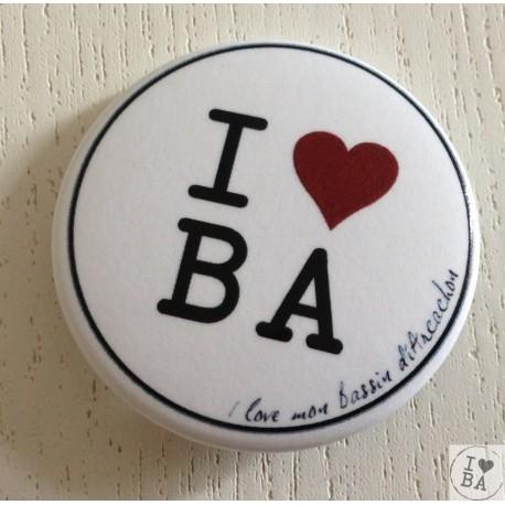 Badge I love BA - I love mon Bassin d'Arcachon