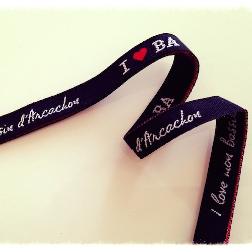 Bracelet noir I love BA - I love mon Bassin d'Arcachon