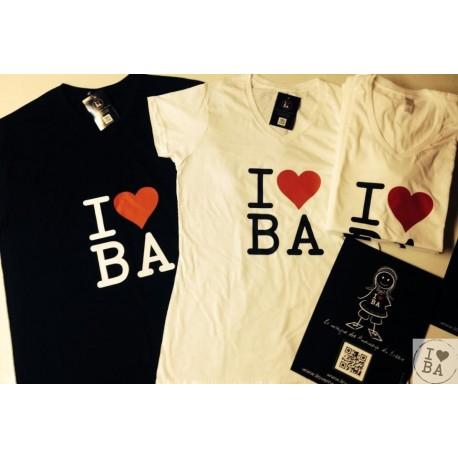 Tee-shirt femme I love BA - I love mon Bassin d'Arcachon