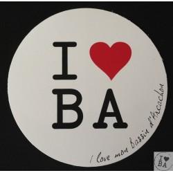 Autocollant I love BA - I love mon Bassin d'Arcachon