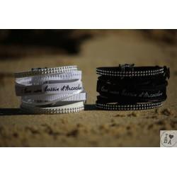 Bracelet manchette I love BA - Claraly Bijoux