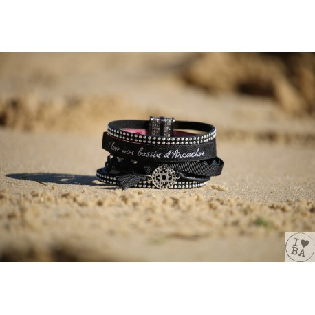 Bracelet manchette estampe I love BA - Claraly Bijoux
